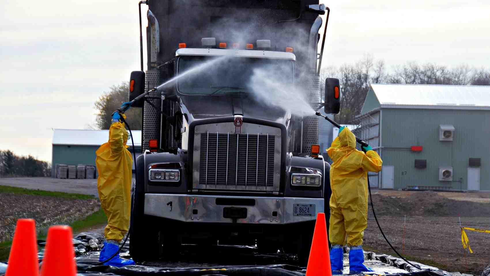 farm truck decontamination