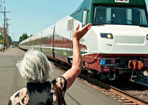 Talgo train in Oregon